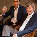Patrón Master Distiller David Rodriguez with his mentor, retired Master DiMaster Distiller Francisco Alcaraz