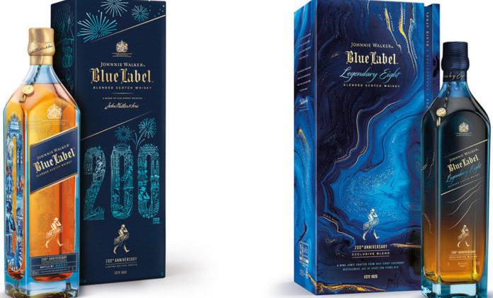 Johnnie Walker Blue Label 200th Anniversary Limited Edition Design and Johnnie Walker Blue Label Legendary Eight